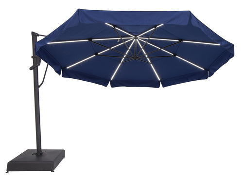 Treasure Garden 13' Starlux AKZ PLUS Cantilever Umbrella - Sunbrella Fabric