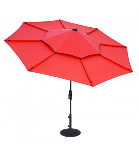 Treasure Garden 10' Lotus Collar Tilt Umbrella Top View