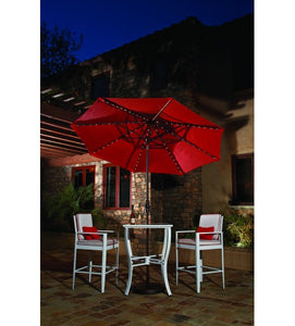 9'Red Starlight Collar Tilt Octagon Umbrella with LED