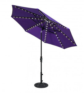 9' Purple Starlight Collar Tilt Octagon Umbrella