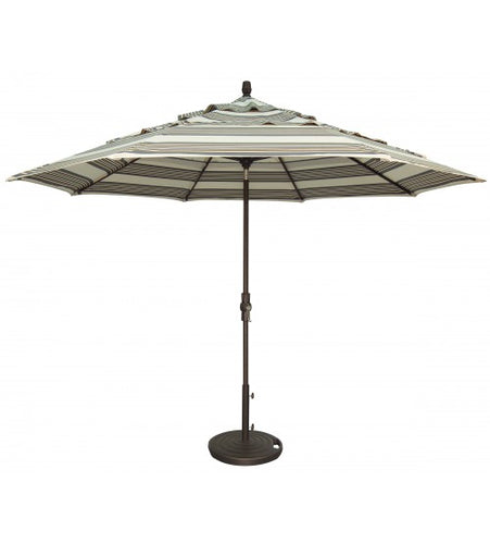 11' Collar Tilt Octagon Commercial Use Umbrella front View
