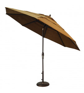 11' OCTAGON MARKET SAND COLOR UMBRELLA AUTO TILT WITH DOUBLE WIND VENT