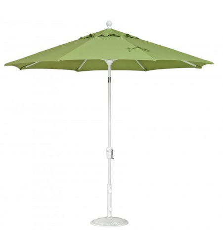 Treasure Garden 9 Foot Push Button Tilt Octagon Green Umbrella
