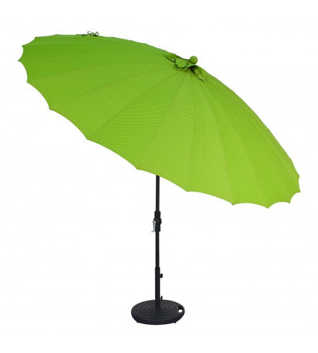 10' SHANGHAI COLLAR TILT ROUND LIME UMBRELLA