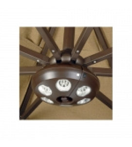Treasure Garden Vega-L Patio 8 Ribs Umbrella Lights