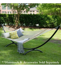 Black Textured  Steel Arc Hammock Stand
