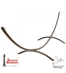 Steel Arc Hammock Stand - Bronze Textured