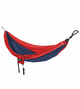 Castaway Single Travel Hammock - Red/Navy