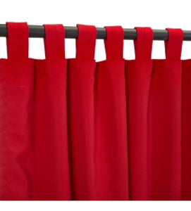 Curtain With Tab Top - Canvas Jockey Red