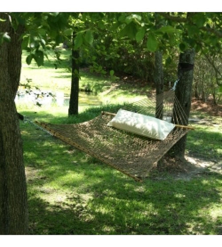 Pawleys Island Presidential Size Original DuraCord Rope Hammock - Antique Brown