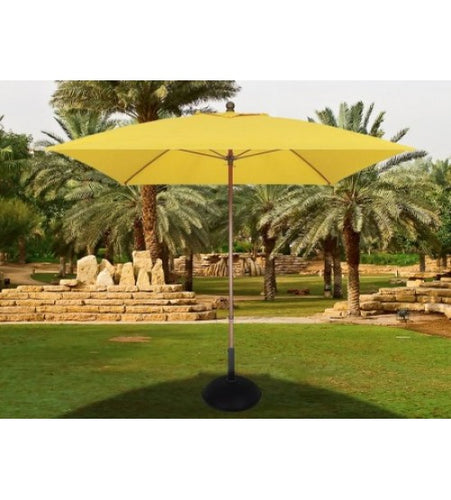 Fiberbuilt Lucaya 7.5' Square Pulley Aluminum Yellow Umbrella