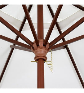 Grove Series 9' Octagon Wood Umbrella With 8 Ribs