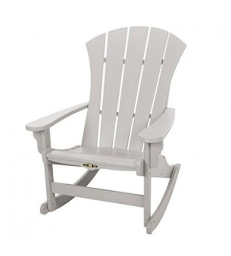 Durawood Sunrise Adirondack Grey Rocker