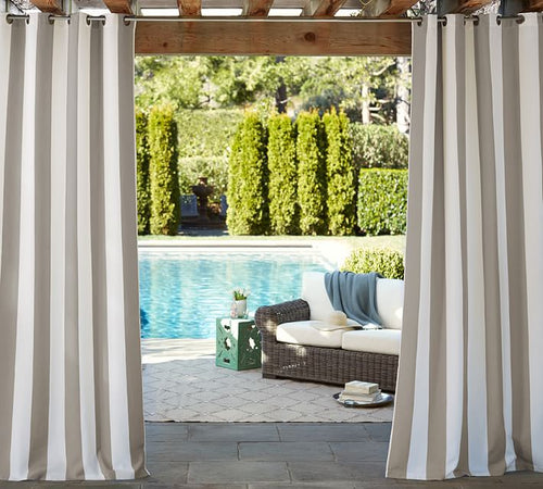 Sunbrella Outdoor Curtain With Stainless Steel Grommets