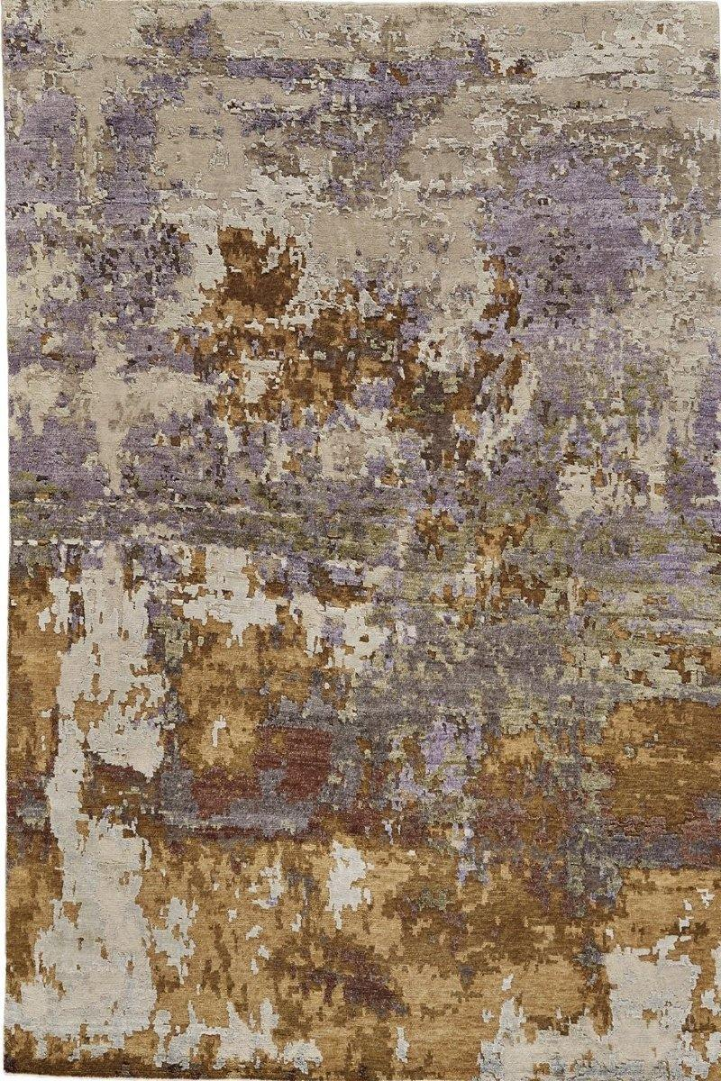 Lorah in Gold Purple - Modern Rugs LA