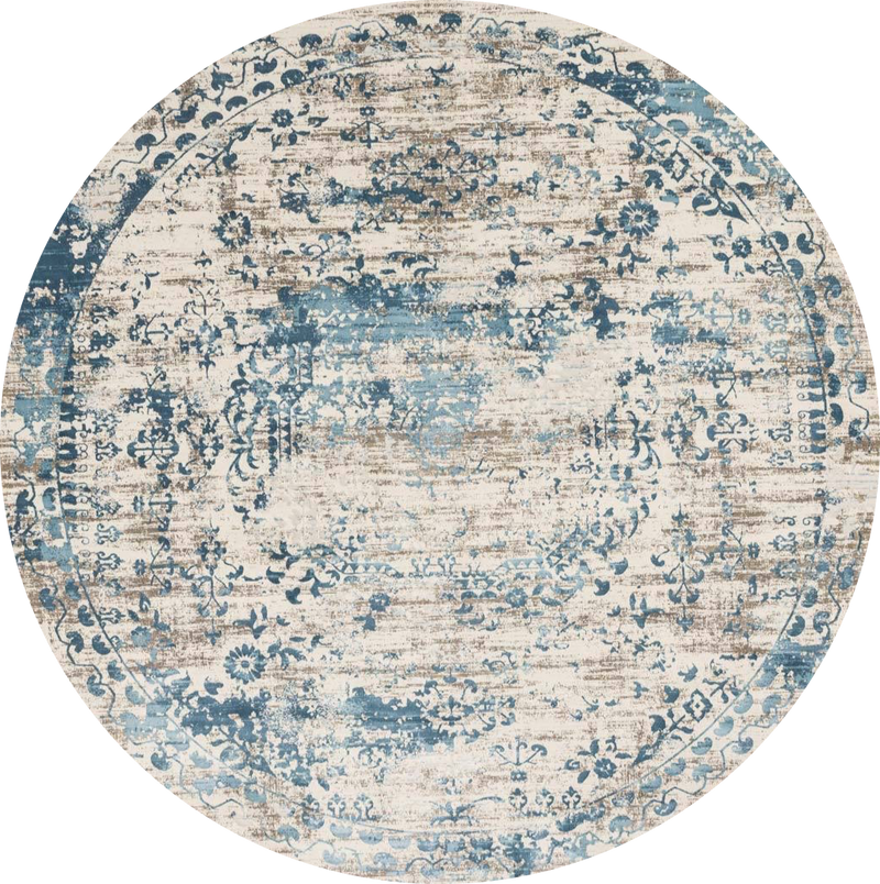 Kingston Ivory / Blue - Modern Rugs LA