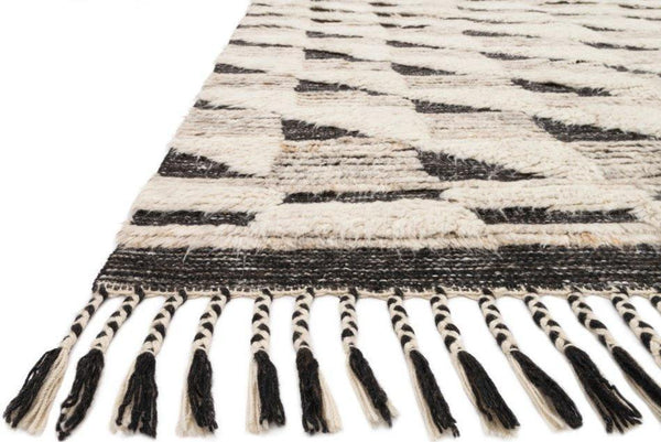 Khalid in Natural Black - Modern Rugs LA