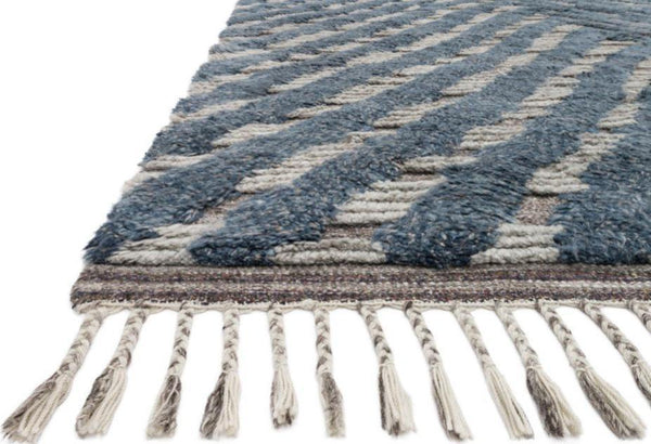 Khalid in Blue Pewter - Modern Rugs LA
