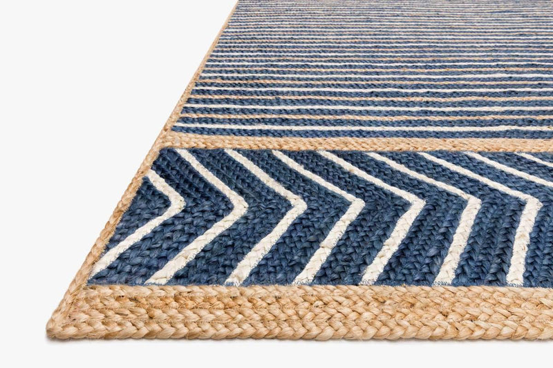 REDONDO-02 ED Denim / Natural - Modern Rugs LA