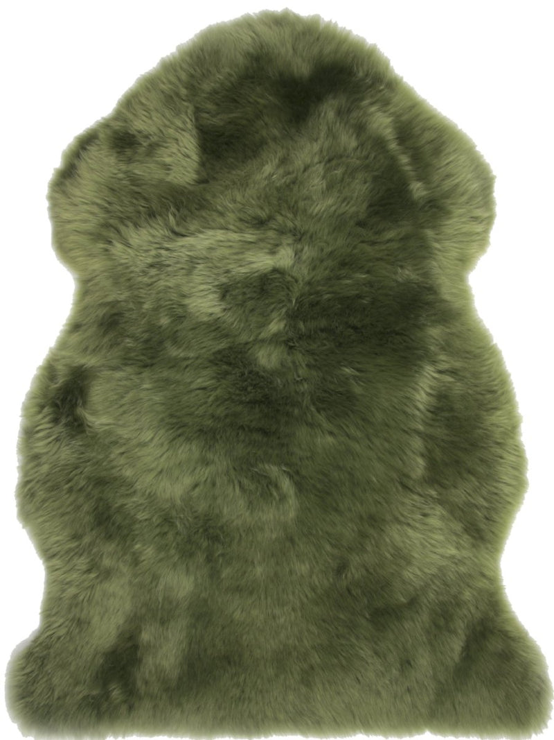 Sheepskin in Olive - Modern Rugs LA