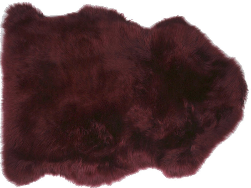 Sheepskin in Burgundy
