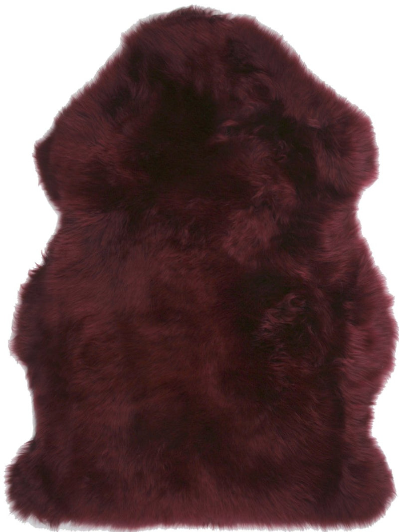 Sheepskin in Burgundy - Modern Rugs LA