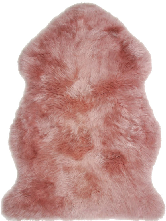 Sheepskin in Dark Rose - Modern Rugs LA