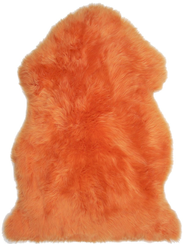 Sheepskin in Orange - Modern Rugs LA