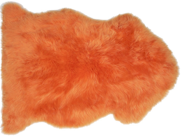 Sheepskin in Orange