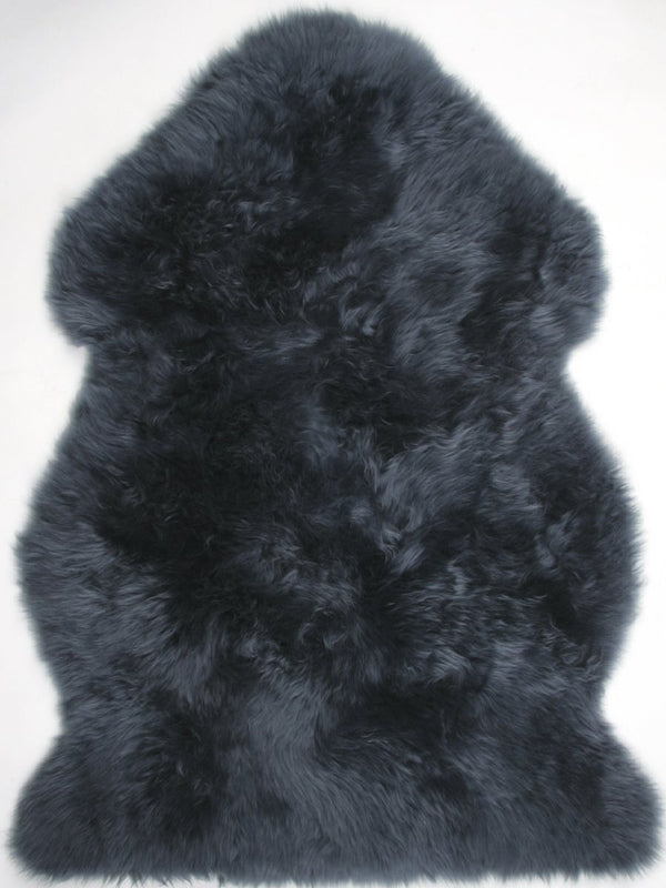 Sheepskin in Navy - Modern Rugs LA