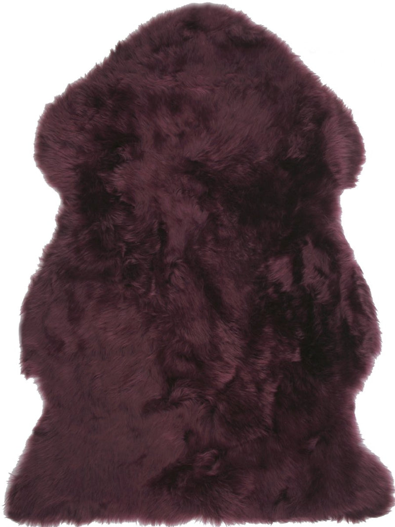 Sheepskin in Plum - Modern Rugs LA