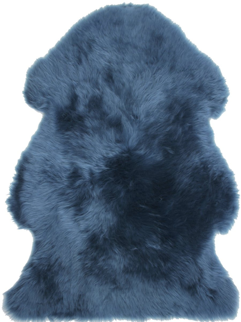 Sheepskin in Teal - Modern Rugs LA