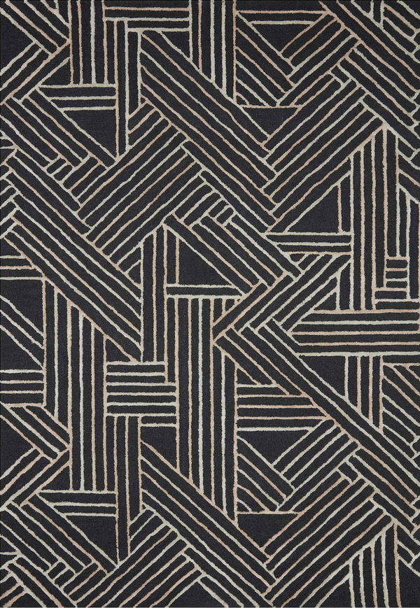 VERVE-01 Charcoal / Neutral - Modern Rugs LA