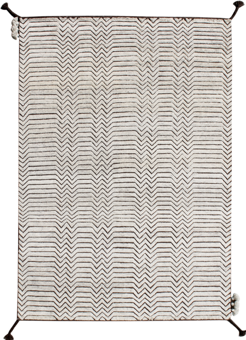 "MARRAKECH ""IVORY/ D BROWN"" #50012 - Modern Rugs LA"