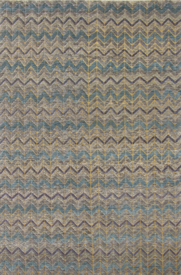 "MARRAKECH ""GRAY/ GOLD"" #121 - Modern Rugs LA"