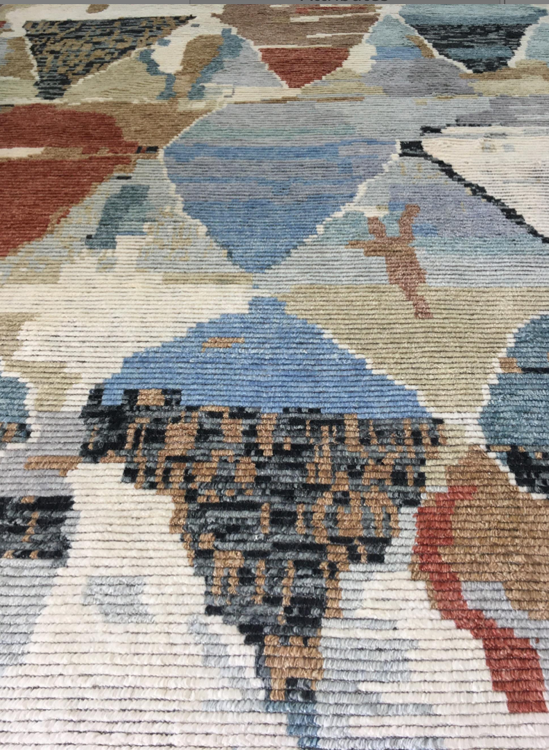 "MARRAKECH ""OFF WHITE / RUST"" #507 - Modern Rugs LA"