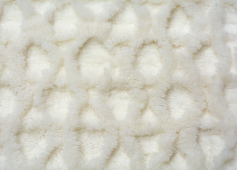 Patagonian Sheepskin Matelasse in Natural White - Modern Rugs LA