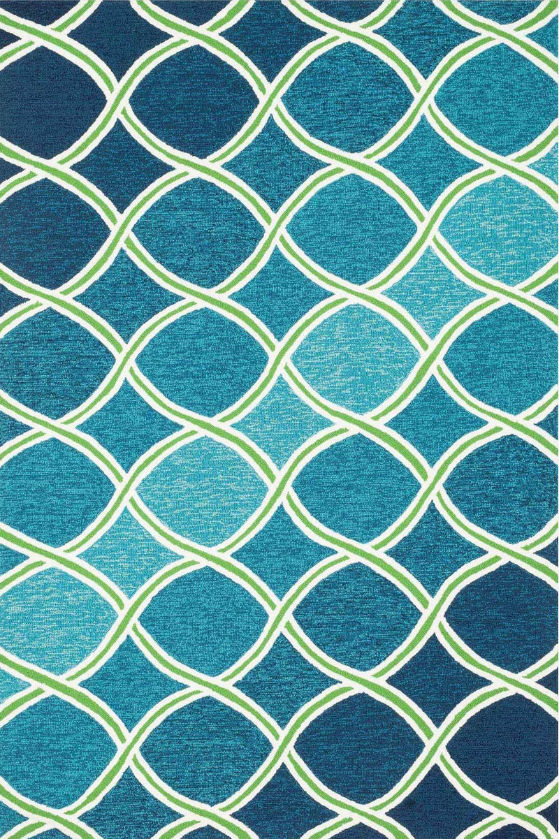 Venice Beach Blue / Green - Modern Rugs LA
