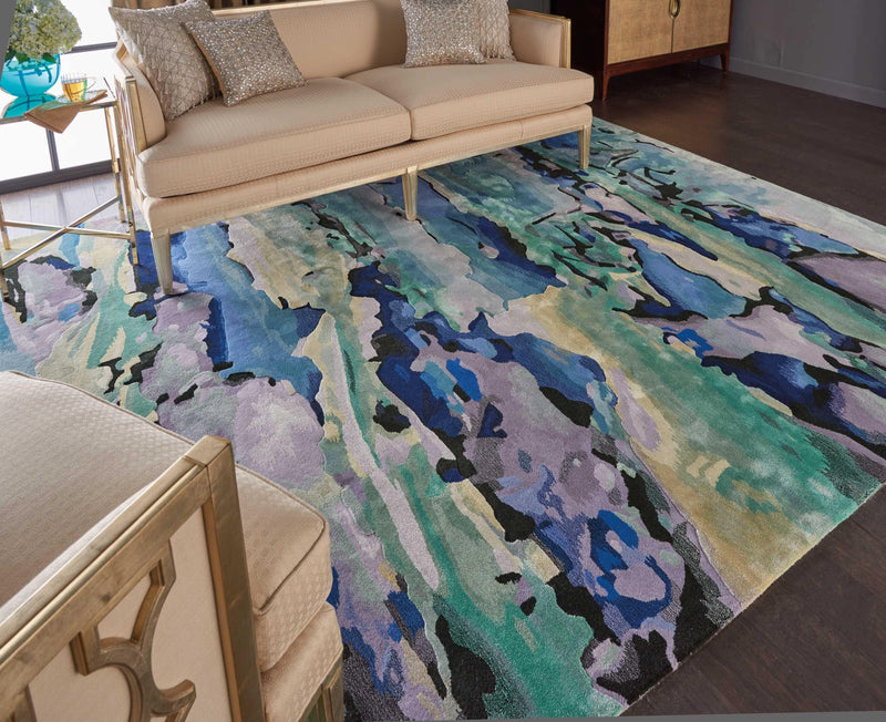 Prismatic in Sea Glass - Modern Rugs LA