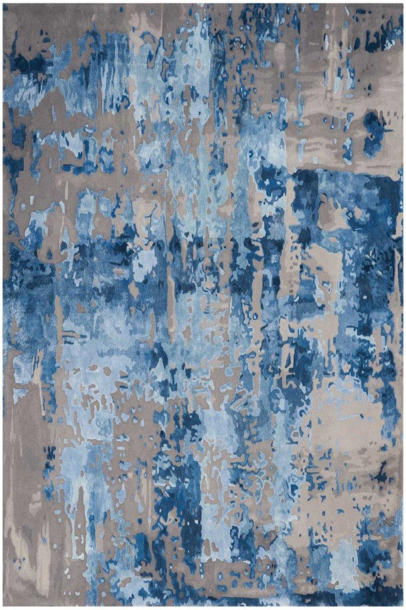 Prismatic in Blue Grey - Modern Rugs LA
