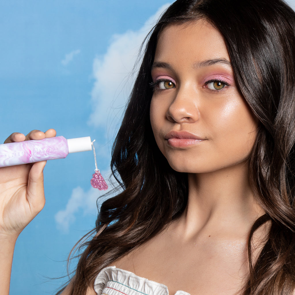 Sophie Michelle with kids fragrance Cloud Mine from kids makeup brand Petite 'n Pretty