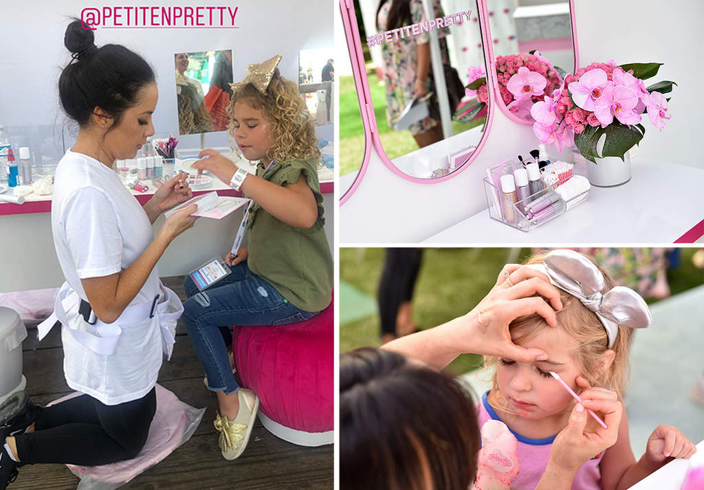 Petite 'n pretty makeup for kids, mini makeovers at Mattel Party on the Pier fundraiser
