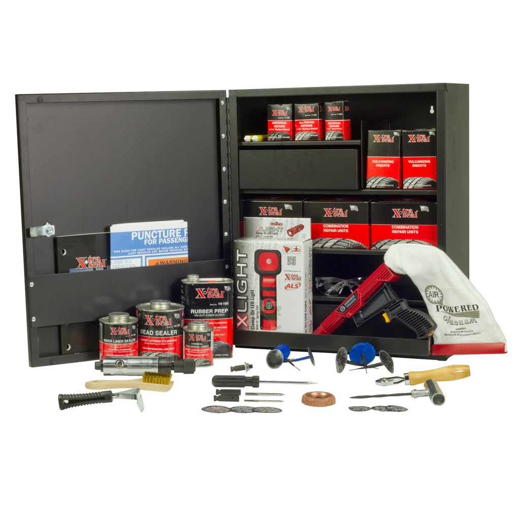 Xtra Seal Tire Service Set with Wall Cabinet