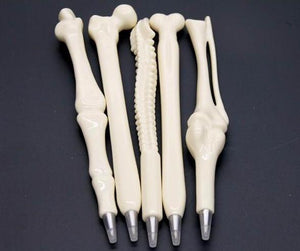 5Pcs Novelty Bone Ballpoint Pen