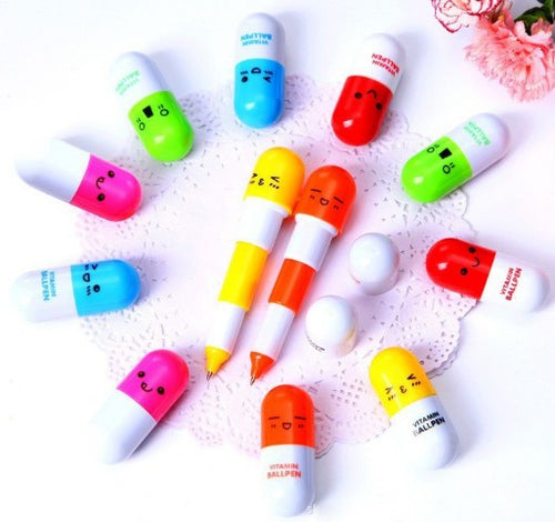 Colored Capsule Pen Set
