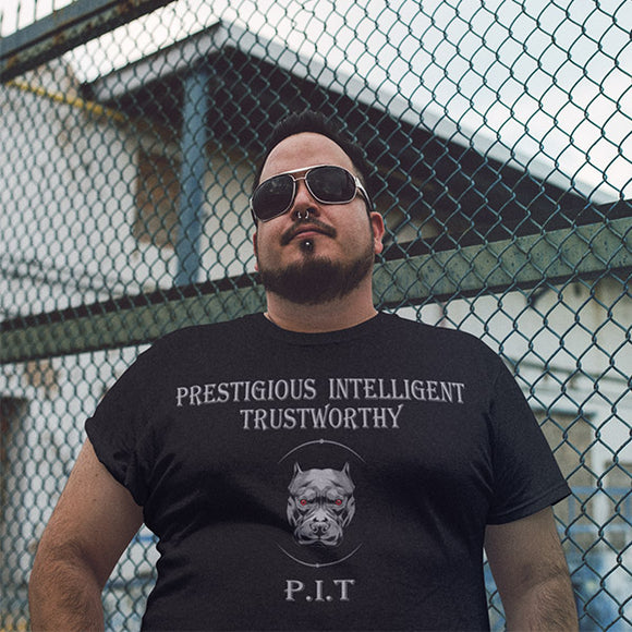 Prestigious Intelligent Trustworthy P.I.T Men's T-Shirt - PrintMeLLC