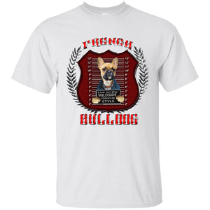 Live On The Wild Side Frenchie Style French Bulldog Men's T-Shirt