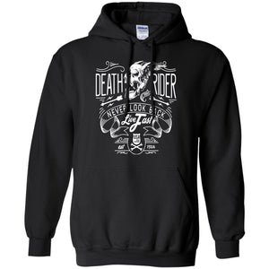 Death Rider Never Look Back Live Fast Adult Unisex Hoodie - PrintMeLLC