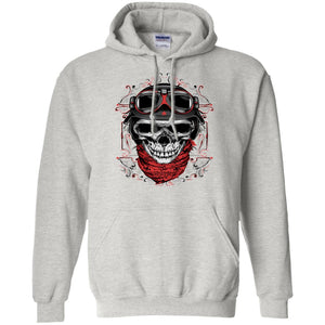Skull With Red Bandana Adult Unisex Hoodie - PrintMeLLC
