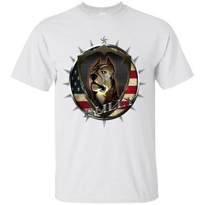 American Bully With American Flag T-Shirt